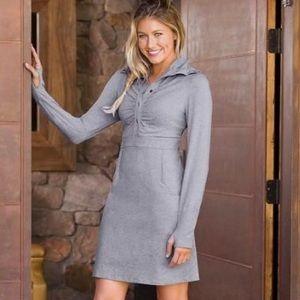Athleta Heather Gray Cozy Up Dress M